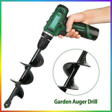 More details for garden auger spiral drill bit planting earth digging hole post planter farm new