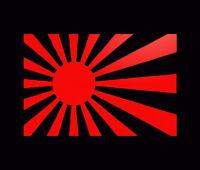 Rising Sun jdm japan flag decal Car Sticker 150mm