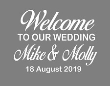Vinyl transfer stickers for DIY wedding welcome sign mirror seating plan 30cm