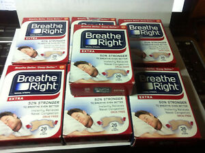 (182) BREATHE RIGHT NASAL STRIPS EXTRA TAN  (7 x 26 Ct Boxes) Ships World Wide