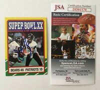 Jim McMahon Signed Autographed 1986 Topps Superbowl 20 Card #8 JSA Certified