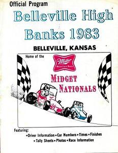 Vintage BELLEVILLE HIGH BANKS Midget Race Program 1983 Rich Vogler KANSAS