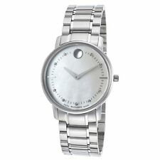 Movado 0606691 Women's TC Diamond Silver-Tone Quartz Watch
