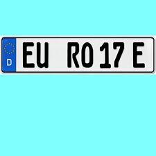 1 Stück EU KFZ Nummernschilder E Kennzeichen  für Elektroauto & Plug-in-Hybride