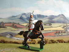 Supreme Medieval Russian knight mounted with sword 60mm painted