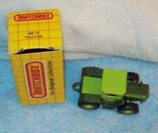 1990 Matchbox #373 Mercedes Benz green Tractor with box