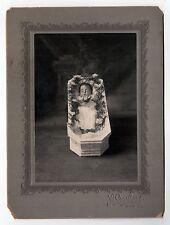 BABY IN CASKET Post Mortem CABINET PHOTO Death MORBID Macabre NEW BEDFORD Dead