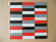 Crystal Glass Mosaic Tiles -  Kitchen Splash Back/Feature Wall - Strip Mix Red
