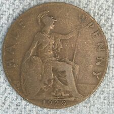 Great Britain Half Penny Victoria  1920 Foreign Coin