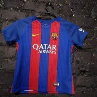 Barcelona Jersey Home Football shirt 2016 - 2017 Nike 776733-481 size Kids M