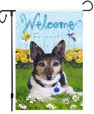 Jack Russell Terrier Welcome Garden Flag Lawn Art Summer yard Decor dog painting