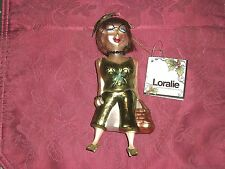 Loralie's Ladies Christmas Ornament Glass Kelly Claddagh Kiss Me I'm Irish Nwt
