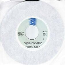 HERMAN'S HERMITS There's A Kind Of Hush All Over The World / Wonderful World 45