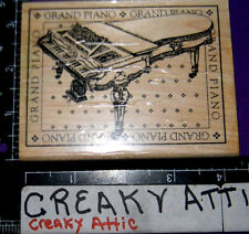 VINTAGE GRAND PIANO RUBBER STAMPS STAMPINGTON