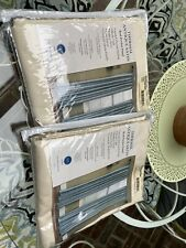 Thermal Antique satin curtains Ivory 2 panels 40 X 84 NEW Nice!