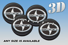 SCION center wheel cap decals emblems stickers 4 pcs :: Any size ::