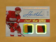2013-14 National Treasures Dual Patch Jersey Auto Hockey Card Stephen Weiss /25