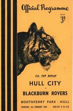 More details for rare football programme hull city v blackburn rovers fa cup replay 1953-1954