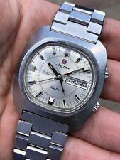 70s Huge Felca Titoni Ring Star Alarm Mens Watch Automatic +Titoni Bracelet