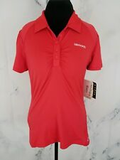 Oakley Womens Isleworth Golf Tennis Stretch Polo Shirt Cherry Red Size L $60