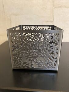 Slatkin & Co. Coral Bath And Body Works Square 3 Wick Candle Holder