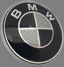 BMW EMBLEM 82 mm CARBON SCHWARZ Motorhaube Heckklappe E32 E34 E36 E38 E39 E46