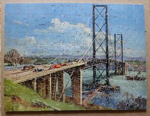 "Vintage Wooden Victory Jigsaw  ""New Forth Road Bridge"" 175 Pieces complete"