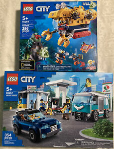 Lego City Service Station 60257 Retired & 60264 Ocean Exploration Submarine New