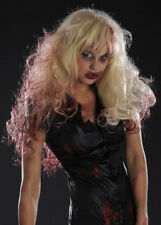 Deluxe Womens Blonde Bloody Zombie Wig