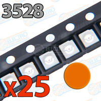 25x LED SMD3528 NARANJA 20mA brillo smd 3528 orange