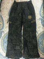 Grenade Fatigue Project Size M Medium Snowboard Ski Snow Pants Black Gray