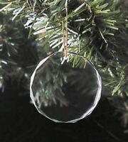 Engraveable Clear Glass Ornament BLANK Christmas K9 Crystal Sandblast/Etch + Box