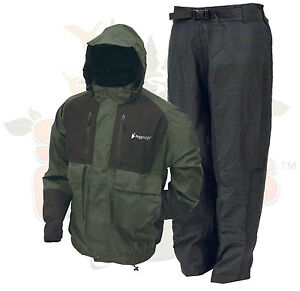 SM Frogg Toggs Green Firebelly Toadz Suit Jacket and Pants Rain Jacket & Pants