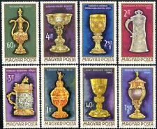 UNGHERIA 1970 COPPE D'ORO/CHALICE/CALICE/Brocca/arte/Goldsmith/Craft Set 8 V (n45725)