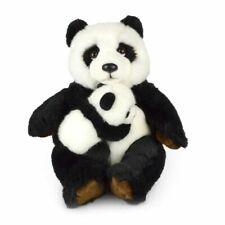 Korimco 25cm Mum & Baby Panda Kids Animal Soft Plush Stuffed Toy Black 3y