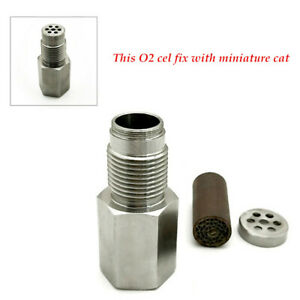Car Metal Check Engine Light Oxygen O2 Sensor Spacer Adapter Bung For OFF ROAD
