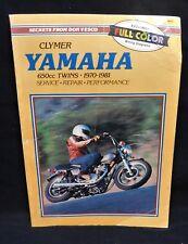 Clymer Yamaha 650cc Twins 1970-1981 Service Repair Book **FREE SHIPPING**