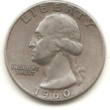 1960  Washington Quarter F (90% silver)
