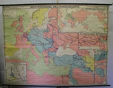 Schulwandkarte Karte WW1 Weltkrieg Kaiserreich VS World Kaiser Wilhelm 238x181cm