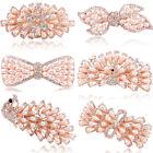 Hot Wedding Party Hair Clip Flower Crystal Rhinestone Pearl Barrette Accessorise