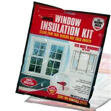 Draft Excluder Insulation Kit Double Glazing Film Glass Window Cold Shield Home
