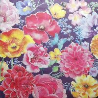 4 x  single PAPER NAPKINS  flowers  mix DECOUPAGE AND CRAFT 50