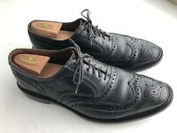 Allen Edmonds McTavish Wing Tip Oxford Black Leather Lace Up 12 D