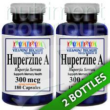 Huperzine A 300mcg 2X180 Capsules by Vitamins Because (Huperzia Serrrata)