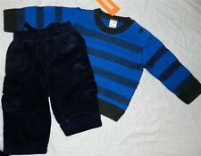 Pant Set Navy Gymboree 4pc Sweater Fall Winter Boy size 18-24 month New