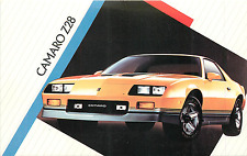 1986 CHEVROLET CAMARO Z28 2-DOOR SEDAN AUTOMOBILE ADV. CHROME POSTCARD
