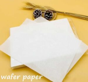 10/50/100 x Sheets A4 Premium Quality Wafer Paper for Edible Printing