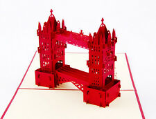 3D Tower Bridge greeting card,London Souvenir pop-up card,lovely greeting card