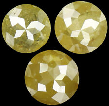 1.38 Ct Natural Loose Diamond Round Rose Cut Yellow Green Color I3 3 Pcs K4064