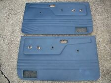 1983-1988 Ford Ranger Bronco II Interior Door Panels Cards Blue